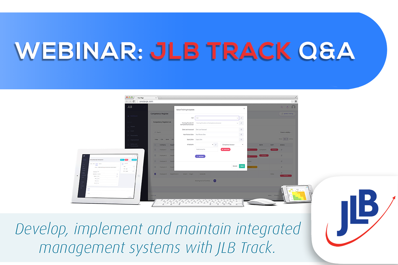 JLB TRACK: Online Q&A Session - 8th Apr, 9:30 (ACT)